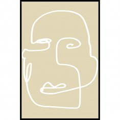 Abstract Face 2 Poster