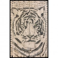 Abstract Tiger Poster