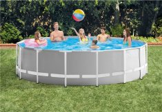 Intex Prism Rund pool med metallram 457 x 122 cm inkl pump och stege