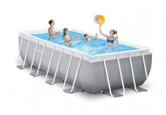 INTEX PRISM RAMPOOL REKTANGULÄR POOL SET 488 x 244 x 107 cm