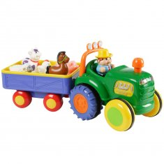 Farm Tractor med Trailer