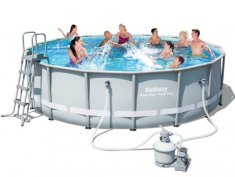 Power Steel™ Bestway Frame Pool Set Ø 488 x 122 cm