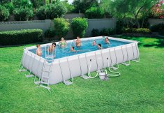 Bestway Power Steel Frame Pool Rektangulär Set 732 x 366 x 132 cm