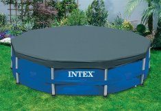 INTEX Poolskydd 457cm till rund rörpool (Round Pool Cover)