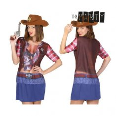 T-shirt för vuxna Th3 Party 6674 Cowgirl