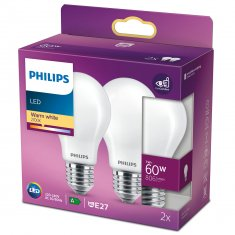 2-pack LED E27 Normal 60W Fros