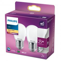 2-pack LED E27 P45 Klot 25W Fr