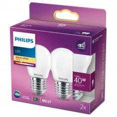 2-pack LED E27 P45 Klot 40W Fr