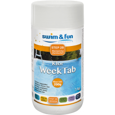 KLOR WEEKTAB VECKOKLOR TABLETTER 200G 1 KG Swim & Fun