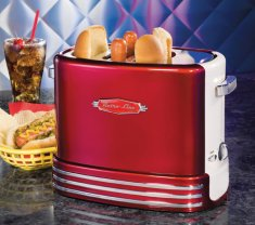 Hot dog pop up toaster Röd-vit / Retro Line