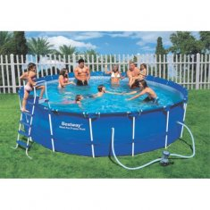 Bestway Steel Pro Frame Pool Set Ø 305 x 76 cm, inkl filterpump