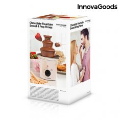 InnovaGoods Sweet & Pop Times Chocolate Fountain 70W White Steel