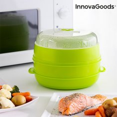 InnovaGoods Fresh Double Microwave Steamer