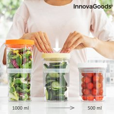 InnovaGoods Adjustable and Airtight Food Storage Containers (Set of 3)