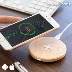 InnovaGoods Maple Wood Fast Charge Wireless Charger