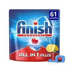 Finish All-in-one Plus Lemon Dishwasher Tablets (61 units)