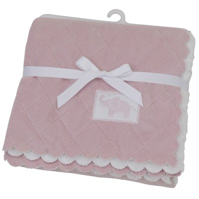 Quiltad Filt Dusty Pink