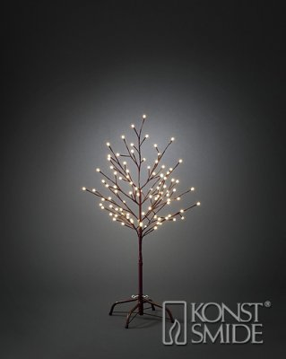 Brunt träd 100 cm 96 varmvita cherry LED 24V/trafo IP44