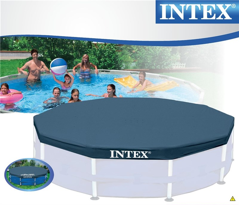 intex poolskydd 457cm till rund r rpool round pool cover. Black Bedroom Furniture Sets. Home Design Ideas